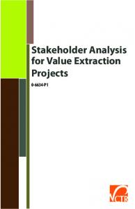 Stakeholder Analysis for Value Extraction Projects P1