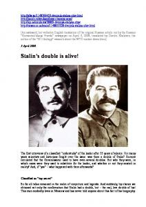 Stalin s double is alive!