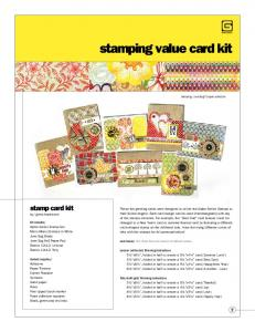 stamping value card kit