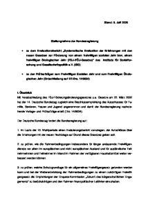Stand: 5. Juli Stellungnahme der Bundesregierung
