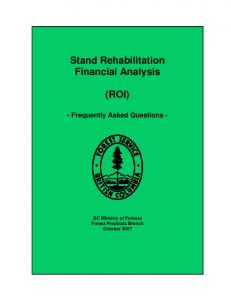Stand Rehabilitation Financial Analysis - Worksheet Documentation - Stand Rehabilitation Financial Analysis (ROI)