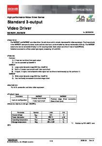 Standard 3-output Video Driver