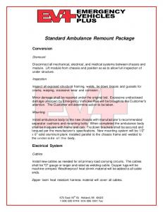 Standard Ambulance Remount Package
