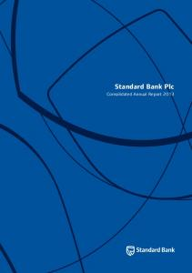 Standard Bank Plc. Consolidated Annual Report 2013