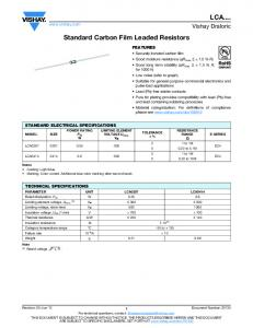 Standard Carbon Film Leaded Resistors