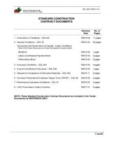 STANDARD CONSTRUCTION CONTRACT DOCUMENTS