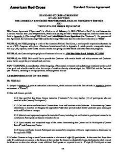 Standard Course Agreement