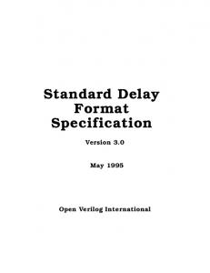 Standard Delay Format Specification