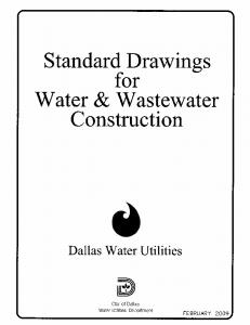 Standard Drawings For Water & Wastewater Construction