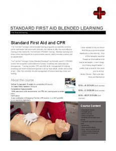 STANDARD FIRST AID BLENDED LEARNING