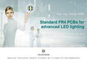 Standard FR4 PCBs for advanced LED lighting