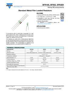Standard Metal Film Leaded Resistors