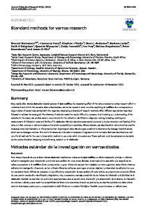 Standard methods for varroa research