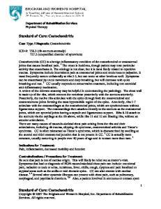 Standard of Care: Costochondritis