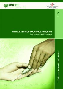 Standard Operating Procedure Needle Syringe Exchange Program For Injecting Drug Users