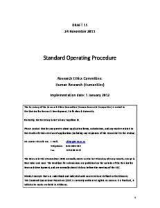 Standard Operating Procedure