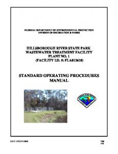 STANDARD OPERATING PROCEDURES MANUAL