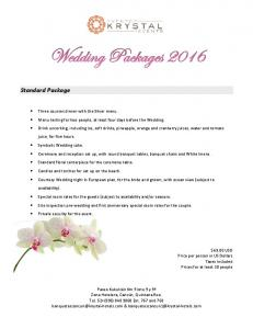 Standard Package. $69.00 USD Price per person in US Dollars Taxes included Prices for at least 30 people