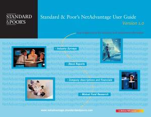 Standard & Poor s NetAdvantage User Guide