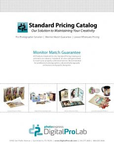Standard Pricing Catalog Our Solution to Maintaining Your Creativity