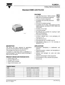 Standard SMD LED PLCC2