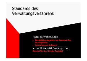 Standards des Verwaltungsverfahrens