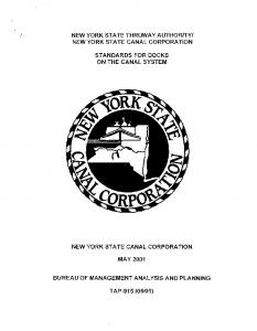 STANDARDS FOR DOCKS ON THE CANAL SYSTEM