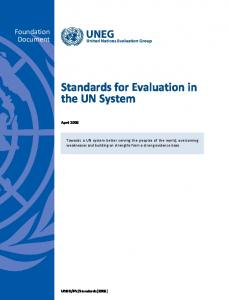 Standards for Evaluation in the UN System