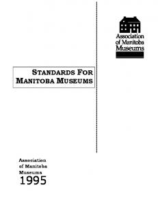 STANDARDS FOR MANITOBA MUSEUMS