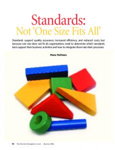 Standards: Not One Size Fits All