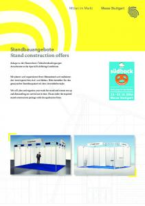 Standbauangebote Stand construction offers