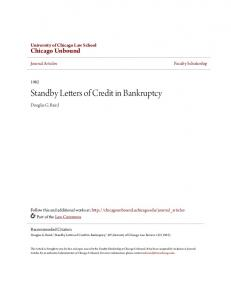 Standby Letters of Credit in Bankruptcy