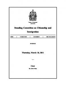 Standing Committee on Citizenship and Immigration