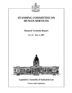 STANDING COMMITTEE ON HUMAN SERVICES