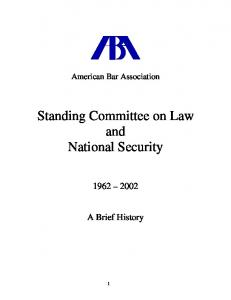 Standing Committee on Law and National Security