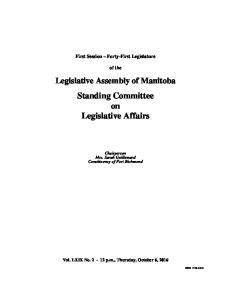 Standing Committee on Legislative Affairs
