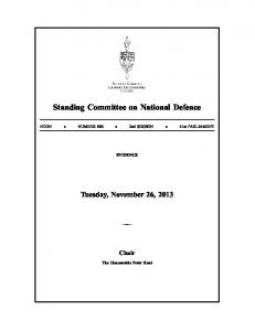 Standing Committee on National Defence