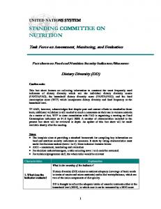 STANDING COMMITTEE ON NUTRITION