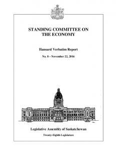 STANDING COMMITTEE ON THE ECONOMY