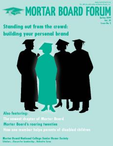 Standing out from the crowd: building your personal brand