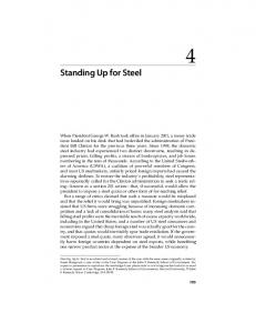 Standing Up for Steel