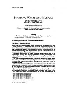 Standing Waves and Musical Instruments