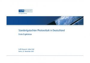 Standortgutachten Photovoltaik in Deutschland