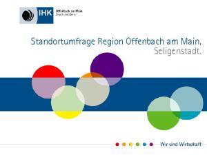 Standortumfrage Region Offenbach am Main. Seligenstadt