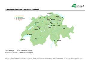 Standortvarianten und Frequenzen Schweiz