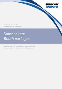 Standpakete Booth packages