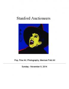 Stanford Auctioneers. Pop, Fine Art, Photography, Mexican Folk Art