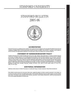 STANFORD UNIVERSITY ACCREDITATION