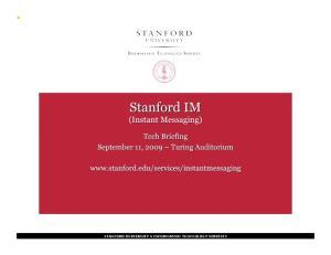 STANFORD UNIVERSITY INFORMATION TECHNOLOGY SERVICES