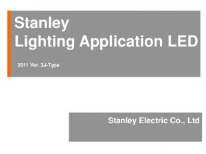 Stanley Lighting Application LED